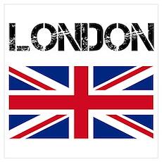 London Union Jack Poster