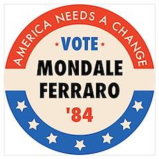 Vote Mondale '84 Poster
