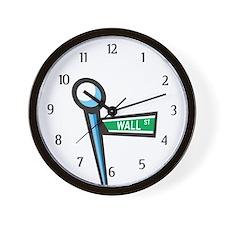 Wall Street Wall Clock