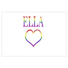 Ella - Rainbow Heart Poster