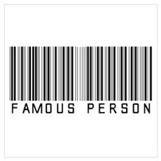 Famous Person (Barcode) Poster