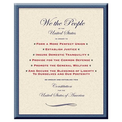 We the People: Preamble, Poster