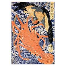 Eagle Vs Lobster Poster