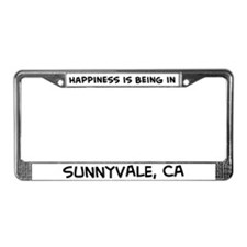 Happiness is Sunnyvale License Plate Frame