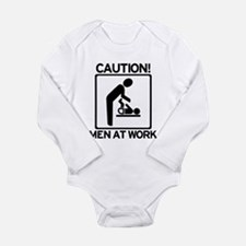 Caution: Men At Work - Diaper Long Sleeve Infant B