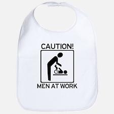 Caution: Men At Work - Diaper Bib