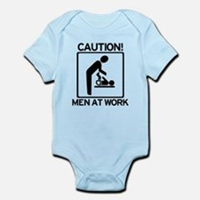 Caution: Men At Work - Diaper Infant Bodysuit