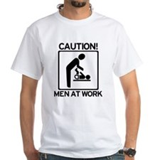 Caution: Men At Work - Diaper Shirt