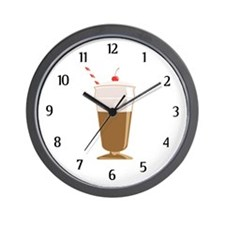 Cute Milkshake Wall Clock