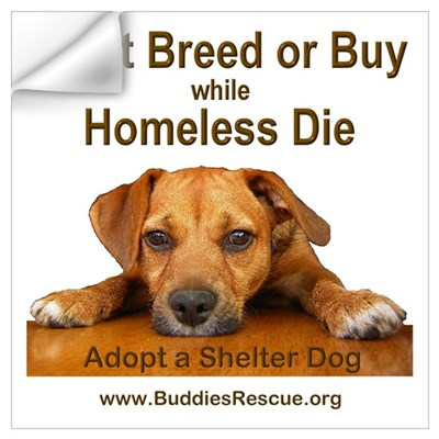 Adopt a Shelter Dog Wall Decal