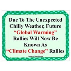 """""""Chilly Global Warming"""" Poster"""