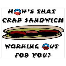 """""""Crap Sandwich"""" Poster"""