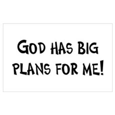 God's Plan for Me Canvas Art