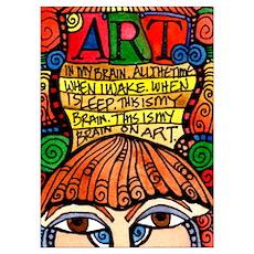 Art Brain Poster