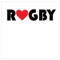 Love Rugby Poster
