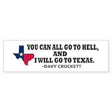 DAVY CROCKETT Bumper Bumper Sticker