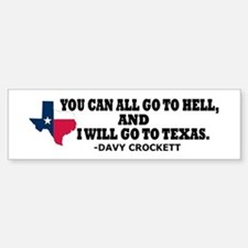 DAVY CROCKETT Bumper Bumper Sticker