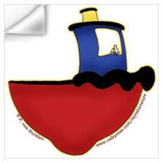 Cute Tugboat Picture 2 Wall Decal