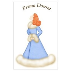 Redhead Prima Donna in Bably Blue Robe Large Poste Poster