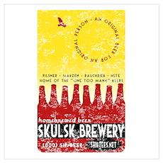 SKULSK Bottles VINTAGE Poster