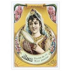 Alima Cosmetics Vintage Label Poster