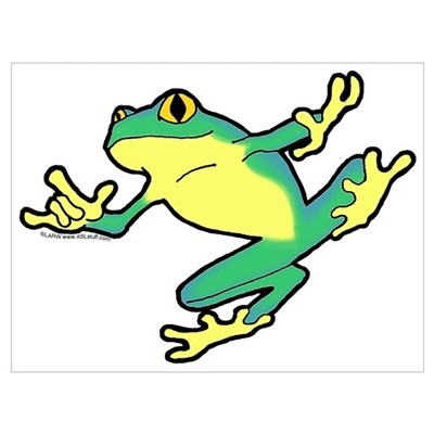 ASL Frog in Flight Framed Print