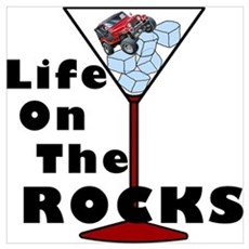 On Rocks Martini Poster