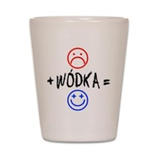 Plus Wodka Equals Happy Shot Glass