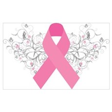 Pink Ribbon Design 3 Poster