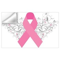 Pink Ribbon Design 3 Wall Decal