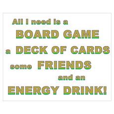 Energy Drink3 Gamer Poster