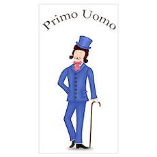Brunette Primo Uomo in Blue Suit Poster