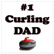 #1 Curling Dad Framed Print