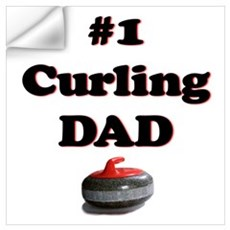 #1 Curling Dad Wall Decal