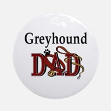 Greyhound Dad Ornament (Round)
