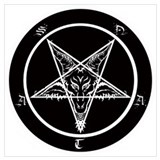 Baphomet Wrapped Canvas Art