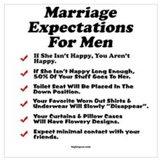 Marriage Expectations For Men Poster