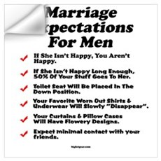 Marriage Expectations For Men Wall Decal