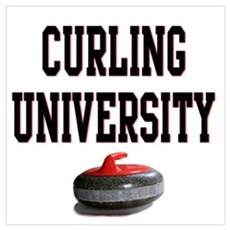 Curling University Framed Print