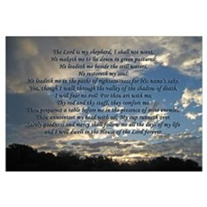 Beautiful Psalm 23 Framed Print