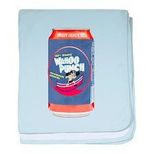 Wahoo Punch baby blanket