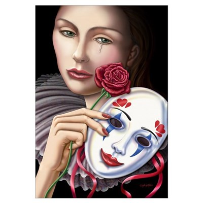Behind the Mask Large 23x35 Canvas Art