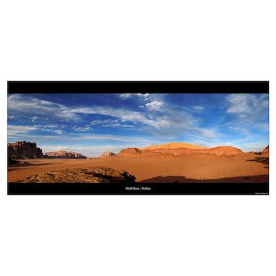 Panorama - Wadi Rum Poster