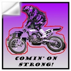 """Comin' On Strong"" Wall Decal"