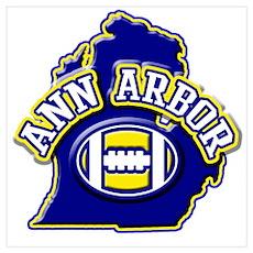 Ann Arbor Football Poster