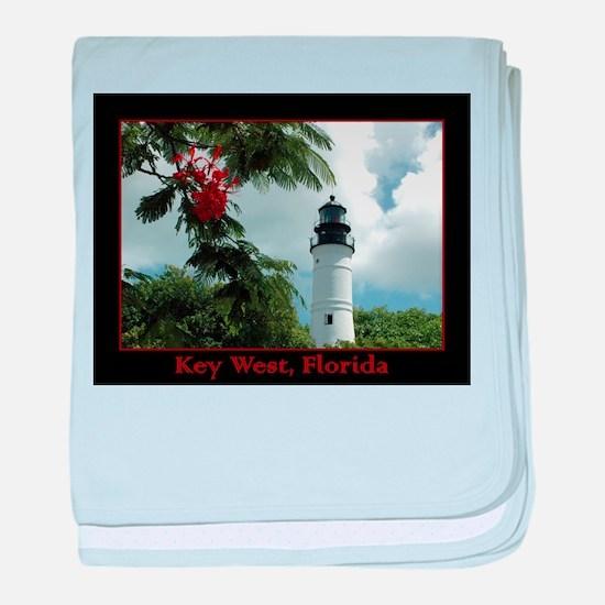 Key West Lighthouse baby blanket