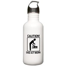 Caution! Dad at Work! Baby Di Water Bottle