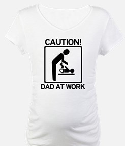 Caution! Dad at Work! Baby Di Shirt