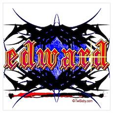 Edward Cullen Grunge Tattoo Poster