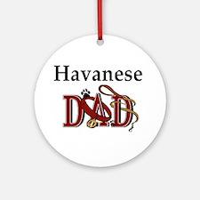 Havanese Dad Ornament (Round)